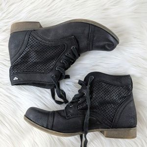 Roxy Fremont Black Ankle Booties Size 7 Casual